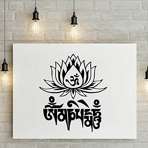 Familie Mandala Lotus Pvc Wandtattoos Home Decor Abnehmbare Wandaufkleber Zimmer Home Decoration-in Rosa L 58 cm X 66 cm -