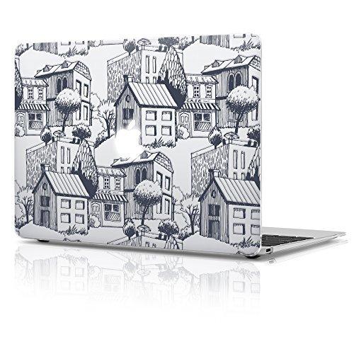 Double Case MacBook Air 33cm Kunststoff Matt Hard Case, Hütte Design mit Tastatur Cover