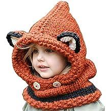 18e3adc99bf00 NEW Los niños de doble uso suéter bufanda gorras Cute Animal Ears diseño de  punto sombreros