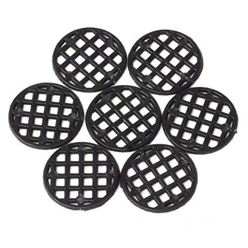 biteatey 50 Stücke Blumentopf Loch Mesh Pad Runde Drainage Netting Bottom Grid Mat Atmungsaktive Verhindern Sie den Bodenverlust Schwarz(2.5cm) Bottom Grid