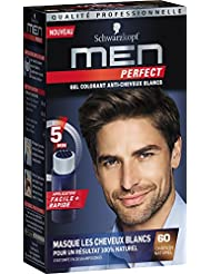 Schwarzkopf Men Perfect - Gel Colorant Anti-Cheveux Blancs - Châtain Naturel 60