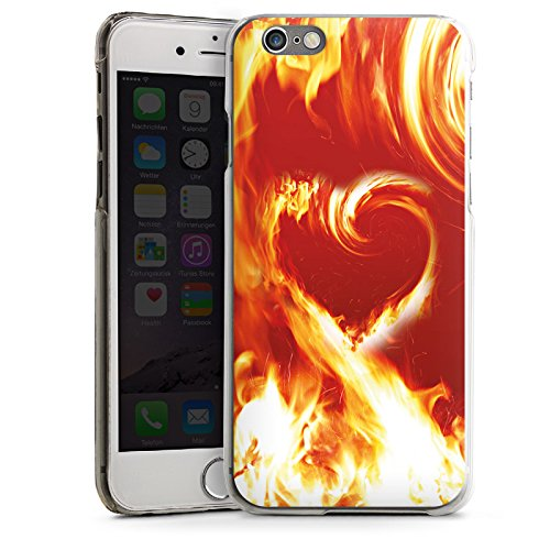 Apple iPhone 5s Housse Étui Protection Coque Feu Amour Amour CasDur transparent