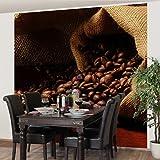 Apalis Vliestapete Küchentapete Dulcet Coffee Fototapete Quadrat | Vlies Tapete Wandtapete Wandbild Foto 3D Fototapete für Schlafzimmer Wohnzimmer Küche | Größe: 192x192 cm, braun, 97605