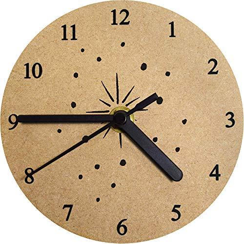 Azeeda 130mm 'Leuchtender Stern' Kleine MDF-Uhr (CK00014686)