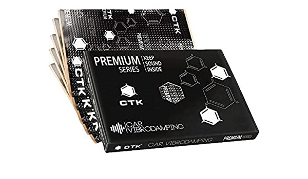 Inex Ctk Premium 3.0mm 37x50cm 12sheets Auto Kompatibel Audio Sound D/ämpfend Vibration Schutz
