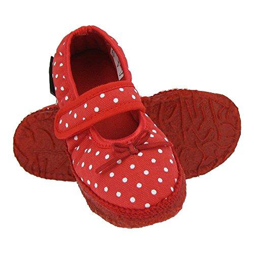 GALLUX - Mädchenschuhe Hausschuhe schöne Mädchen Ballerinas Rot