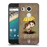 Head Case Designs Protect You from Rain Cute Emo Love Cover in Morbido Gel Compatibile con LG Nexus 5X