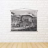 ArtzFolio Victorian Art of Court of The Lions Alhambra Granada Canvas Painting Tapestry Scroll Art Hanging 15.8 X 12Inch
