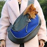 ELETIST Single-Schulter Hundetasche Katzentasche für kleine Hunde und Katzen, Hunderucksack tragbaren Atmungsaktiv weich Transporttasche, Größe S für 1-2kg - Blau