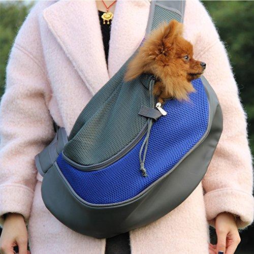 ELETIST Haustier-Umhängetasche Hundetasche Tragetasche Katzentasche Ultraleicht Einfach Bedienbar Leichtes Reinigen 47 x 32 x 30 cm 368g für Tiere unter 1-5 kg (Größe M, Blau)