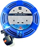 Masterplug MCT1010/4BL-MP 10 m 10 A 4 Socket Medium Cassette Reel with Thermal Cut-Out and Reset Button