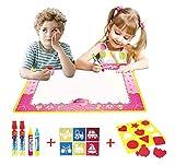 BENGO Aqua Malmatte Wasser Color 74x49CM,Doodle Matte für Kinder Doodle Spiel 4 Doodle Zusatzstift mit Stempelset