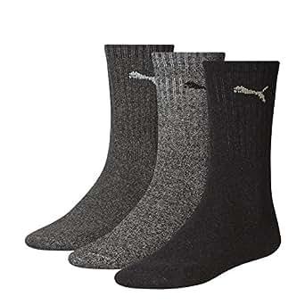 6 Paar PUMA Unisex Crew Socks Socken Sportsocken MIT FROTTEESOHLE (35-38, anthrazit/grey)