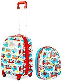 Casart 2pezzi bambini set di valigie ABS bambini zaino valigia trolley borsa da viaggio scuola 30,5cm 40,6cm