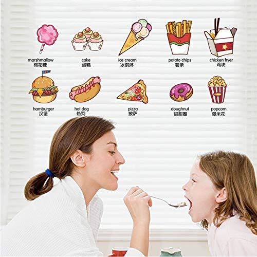 Cczxfcc Cartoon Dessert Wandaufkleber Wohnkultur Wohnzimmer Kinderzimmer Küche Kühlschrank Aufkleber Diy Selbstklebende Folie