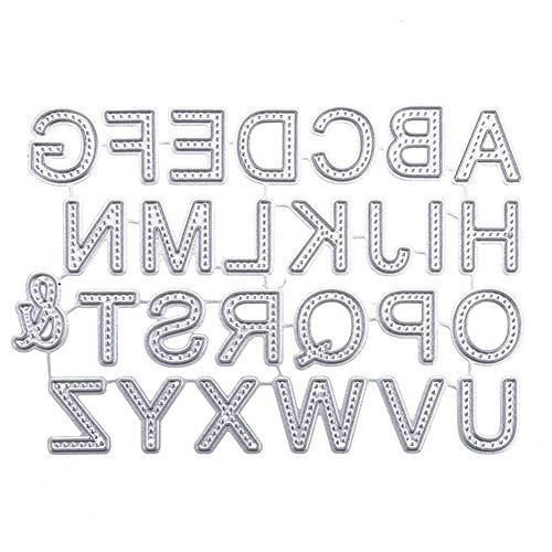 h Buchstabenform Schneideisen Metallschablone Schablone für DIY-Album Halloween Weihnachten Thanksgiving-Dekoration-Geschenk ()