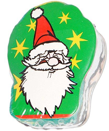 alles-meine.de GmbH Waschlappen / Waschhandschuh -  Weihnachtsmann  - Magic Towel - Baumwolle - Magisches Tuch - für Kinder & Erwachsene - Weihnachten - Badepuppe / Handspielpuppe - Santa Claus (Geldbörse Claus)