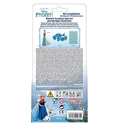 Dekora - Figura Frozen para Tartas con 5 Velas de Cumpleaños por Dekora