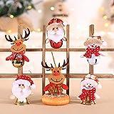 Annhao Ornamenti per Alberi di Natale 6 Pezzi Albero di Natale Ornamenti per Alberi di Natale Pendenti Bambole di Pezza Campane Finestra Dell'hotel Accessori