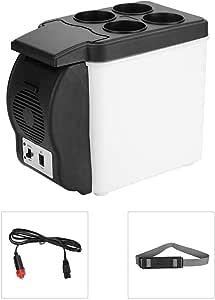6liter Mini Tragbar Autokühlschrank 12v Gefrierschrank Multifunktionale Getränke Wärmer Kühler Kühlschrank Mit Vier Flaschen Aufbewahrungsboden Elektrischer Getränkekühler Für Camp Büro Reisen Küche Haushalt