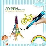 3D Pen Kinder, MODAR 3D Stift kompatibel mit 1,75 mm PLA/ABS Filament, 3D Drucker Stift Set schönes Geschenk für Kinder, Potenzial von Kinder erschließen, umweltfreundlich und harmlos, Blau