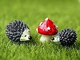 SecretRain Lgel & Pilz aus Harz Gartendeko Puppenhaus Ausschmückung Miniatur DIY Fee-Verzierung