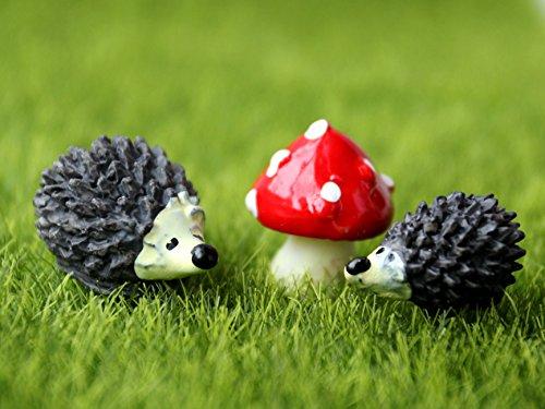 SecretRain Lgel & Pilz aus Harz Gartendeko Puppenhaus Ausschmückung Miniatur DIY Fee-Verzierung -