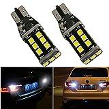 FEZZ 2pcs lampadine LED CANBUS T15 2835 15SMD luci di stop girare segnale della parte posteriore dell'automobile auto esterno bianco