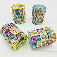 Dyyicun12 Kids Puzzle Toys, Magic Colorful Cylinder Puzzle Math Learning Early Educational Kids Christmast Birthday Gift