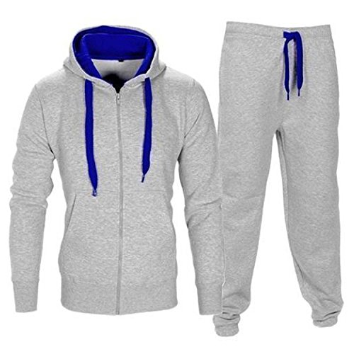 MyMixTrendz Kids Boys Girls Tracksuit Contrast Set Full Sleeve Fleece Zipper Hoodie Top Bottoms Jogging Joggers Gym School Size 7-13 Year