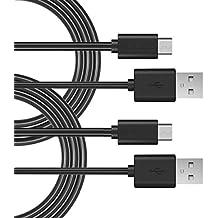 Elzo 2-Unidades Cable Micro USB Carga Rápida, 3A 5,9 pies / 1,8 m Cargador Micro USB Sincro y Carga USB para Dispositivos Android, Samsung Galaxy, Kindle, TCL, Sony, Nexus, Motorola, Sprint y más