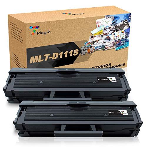 7Magic MLT-D111S Toner Kompatibel für Samsung MLT-D111S 111S ELS Tonerkartuschen Kompatibel für Samsung Xpress SL M2070 M2070w M2070f M2070fw M2020 M2022W M2022 M2026w Drucker(2 Schwarz)