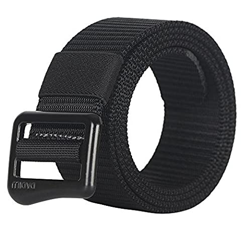 FAIRWIN Tactical Webbing Belt, Nylon Military Style Casual Canvas Webbing Buckle Belt with Gift Box