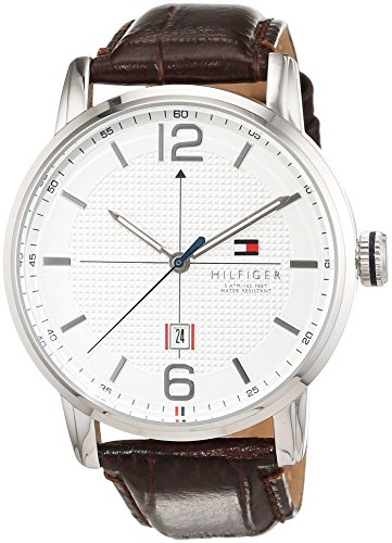 Reloj analógico para hombre Tommy Hilfiger 1791217, mecanismo de cuarzo, diseño clásico, correa de piel.