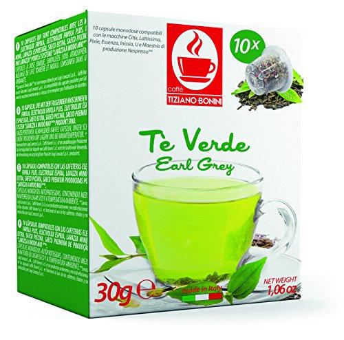 NESPRESSO GRÜNER Tee - 10 Stück Kompatible Teekapseln von Caffè Bonini Italien