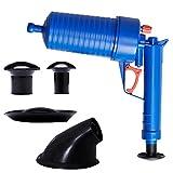 SSDM Hochdruck-Luft-Entwässerungs-Blaster-Reiniger ABS-Plastikbagger-Toiletten Verstopfte Rohre U. Abflüsse mit 4 Adaptern