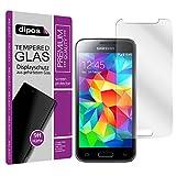 dipos I Hart-Glas passend für Samsung Galaxy S5 / S5 Neo Panzerfolie I 9H Echtglas Schutzfolie Displayschutz-Folie