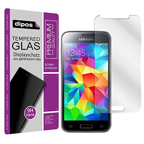 dipos I Hart-Glas passend für Samsung Galaxy S5 Mini Panzerfolie I 9H Echtglas Schutzfolie Displayschutz-Folie
