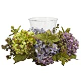 Nearly Natural Mixed Hydrangea Candelabrum Silk Arrangement Mixed