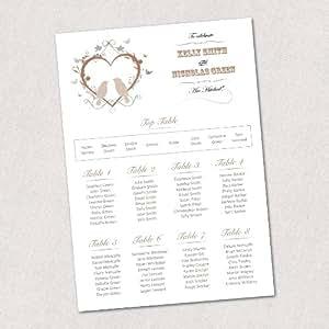 A1 TP22 Plan de Table de mariage