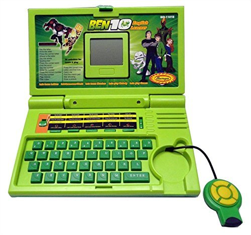 High Quality Ben 10 Educational English Learner Laptop With Mouse For Kids 20 Activities Mini Educational Laptop For Children English Learner Gaming Laptop For Kids Mini Laptop With Mouse For Kids & children With 20 Fun Activites Enhanced Skills Of Children Premium Quality English Learner Laptop With Games For Kids Easel Learning Laptop For Kids Educational Purpose Mini Learner Laptop For Boy & Girls Best English Ben 10 Learner Laptop (Colour May Vary)