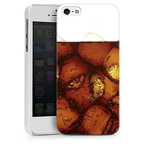 Apple iPhone X Silikon Hülle Case Schutzhülle Cola Getränk Eiswürfel Hard Case weiß