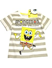 "Spongebob T-Shirt ""TICKLED YELLOW""- grau/weiß"