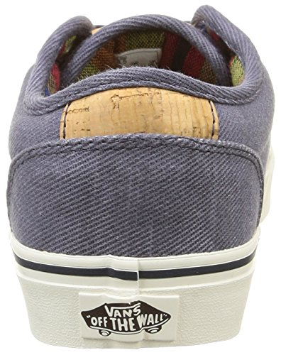 Vans Atwood Deluxe, Baskets Basses Homme Bleu (Washed Twill/Navy/Marshmallow)