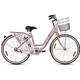 Hero Fashion 24T Single Speed Cycle (Pink)