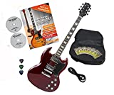 Rocktile Pro S-R Guitare électrique Heritage Cherry avec accessoires