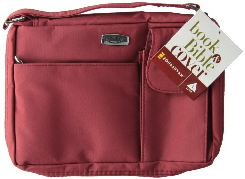 microfiber-red-with-exterior-pockets-lg-bible-cover-by-zondervan-2003-05-07
