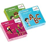 Edurite Educational Flash Cards Combo (Alphabets, Birds & Animals)