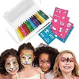 16colores niños adulto disfraces pintura corporal pintura aceite maquillaje Halloween maquillaje pintura para pintar cara pintura aceite cepillos pinceles pintura seguro no tóxico
