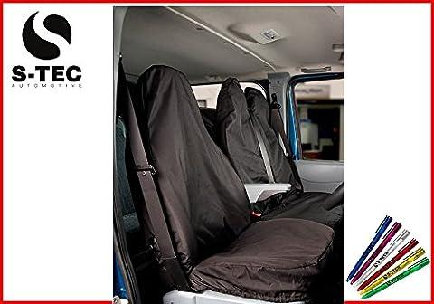 LDV CONVOY 96-05 REAR WHEEL DRIVE - S-tech Heavy Duty Black Van Seat Covers 2+1|Durable | Attractive Design | Waterproof | FREE S-TECH Pen